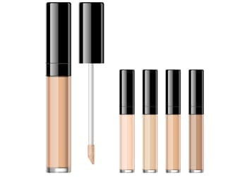 A selection of eye shadow primers in different shades