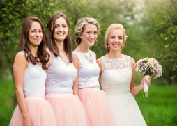 Brides and bridesmaids hair and makeup