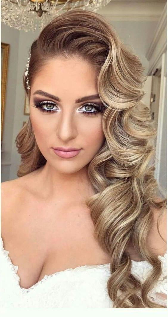 glam curls hair