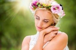 sunshine on brides wedding day