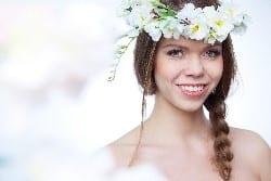 fake flower crown
