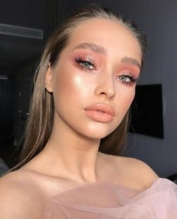 Pink bridal makeup look