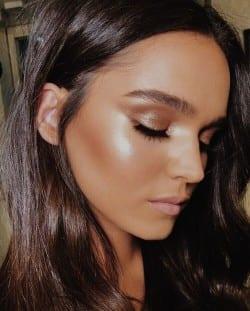 bronzed bridal makeup look