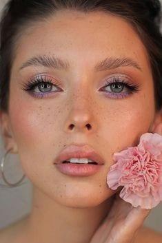 peach bridal makeup look